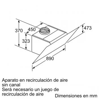 Campana Decorativa Balay 3BC598ANC de 90cm | Cristal Negro | Control Placa-Campana - 10