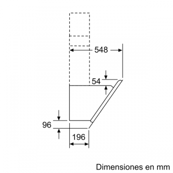 Campana Decorativa Balay 3BC598ANC de 90cm | Cristal Negro | Control Placa-Campana - 11