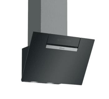 Campana Decorativa Balay 3BC566GN de 60cm | Cristal Negro | Control Táctil | 398.0 m³/h| Encastrable | Stock