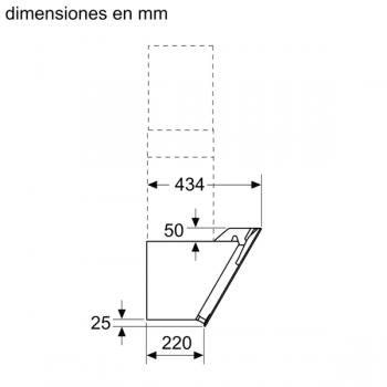 Campana Decorativa Balay 3BC566GN de 60cm | Cristal Negro | Control Táctil | Encastrable - 8