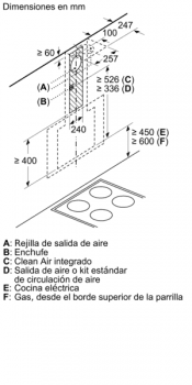 Campana Decorativa Balay 3BC566GN de 60cm | Cristal Negro | Control Táctil | Encastrable - 11