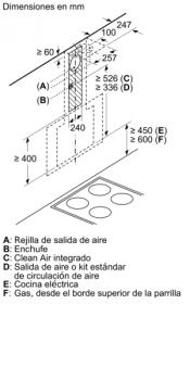 Campana Decorativa Balay 3BC566GN de 60cm | Cristal Negro | Control Táctil | 398.0 m³/h| Encastrable | STOCK - 12