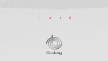 Campana Decorativa Balay 3BC585GB de 80cm | Cristal Blanco | 629 m3/h | Encastrable - 3