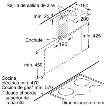 Campana Decorativa Balay 3BC585GB de 80cm | Cristal Blanco | 629 m3/h | Encastrable - 7