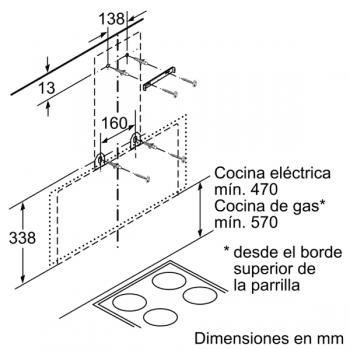 Campana Decorativa Balay 3BC585GB de 80cm | Cristal Blanco | 629 m3/h | Encastrable - 8