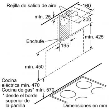 Campana Decorativa Balay 3BC585GN de 80cm | Cristal Negro | Control Táctil | Encastrable - 7