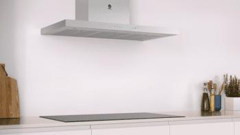 Campana Decorativa Balay 3BC998AXD de 90cm | Encastrable | Acero tras Cristal | Control Placa-Campana - 5