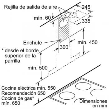 Campana Decorativa Balay 3BC998AXD de 90cm | Encastrable | Acero tras Cristal | Control Placa-Campana - 8