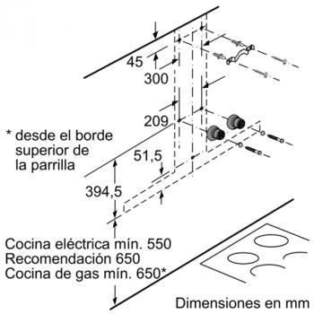 Campana Decorativa Balay 3BC998AXD de 90cm | Encastrable | Acero tras Cristal | Control Placa-Campana - 10