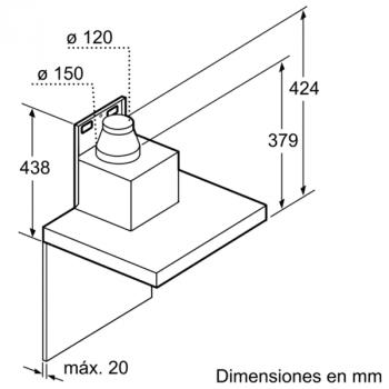 Campana Decorativa Balay 3BC997GX de 90cm | Acero Inoxidable | Control Táctil | Encastrable | Clase A+ - 8