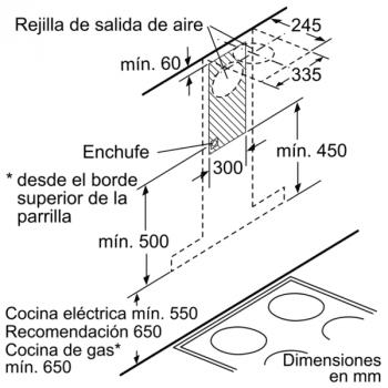 Campana Decorativa Balay 3BC997GX de 90cm | Acero Inoxidable | Control Táctil | Encastrable | Clase A+ - 9