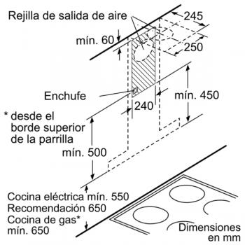 Campana Decorativa Balay 3BC967GX de 60cm | Acero Inoxidable | Filtros Aluminio | Clase A - 8