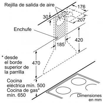 Campana Decorativa Balay 3BC693MX de 90cm | INOX | Iluminación LED | Diseño Tradicional - 7