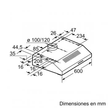 Campana Decorativa Balay 3BH262MXX de 60cm | INOX | Diseño Tradicional | Control Mecánico - 2
