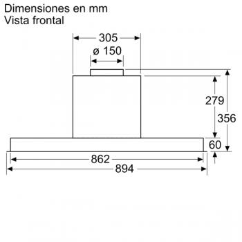 Campana Decorativa Balay 3BD896MX de 90cm | INOX | Integrable | Iluminación LED | Clase A - 8