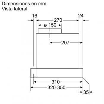 Campana Decorativa Balay 3BD896MX de 90cm | INOX | Integrable | Iluminación LED | Clase A - 9