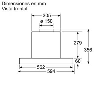 Campana Decorativa Balay 3BD866MX de 60 | INOX | Control Mecánico | Instalación en recirculación - 9