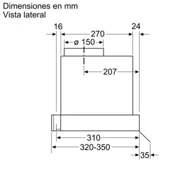Campana Decorativa Balay 3BD866MX de 60 | INOX | Control Mecánico | Instalación en recirculación - 10
