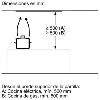 Campana Decorativa Balay 3BD866MX de 60 | INOX | Control Mecánico | Instalación en recirculación - 11