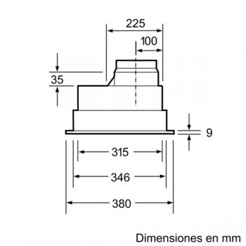 Campana Filtrante Encastrable Balay 3BF266NX en color Gris Metalizado, de 53 cm a 618 m³/h, con Iluminación LED | Clase C - 3