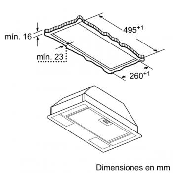 Campana Filtrante Encastrable Balay 3BF263NX de 53cm | Color Gris metalizado | Control Mecánico | Instalación en recirculación - 5