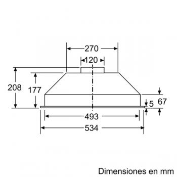 Campana Filtrante Encastrable Balay 3BF263NX de 53cm | Color Gris metalizado | Control Mecánico | Instalación en recirculación - 6