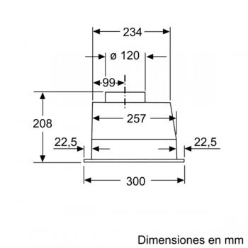 Campana Filtrante Encastrable Balay 3BF263NX de 53cm | Color Gris metalizado | Control Mecánico | Instalación en recirculación - 7