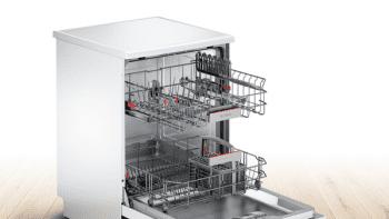 Lavavajillas Bosch SMS46HW04E Blanco de 60 cm con 12 servicios | Cesta Portacubiertos | Motor EcoSilence A++/stock - 3