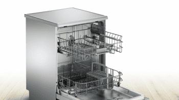 Lavavajillas Bosch SMS25AI03E Inox de 60 cm con 12 servicios | Cesta Portacubiertos | Motor EcoSilence A++ - 3