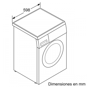 Lavadora Siemens WU14UT7XES Inox antihuellas de 9 Kg a 1400 rpm | Tecnología varioSpeed | Motor iQdrive A+++ -30% | iQ500 - 4