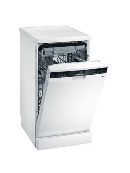 Lavavajillas Siemens SR23HW65ME Blanco de 45 cm para 10 servicios | Función varioSpeed+ | WiFi Home Connect | Clase A+ | iQ300