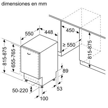 Lavavajillas Siemens SR93EX28ME Integrable de 45 cm para 10 servicios   Función varioSpeed+   WiFi Home Connect   Clase A++   iQ300 - 7