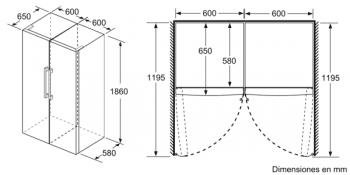 Frigorífico 1P Siemens KS36VAIEP Inoxidable antihuellas de 186 x 60 cm | Zona hyperFresh Plus | Clase A++ | iQ500 - 8