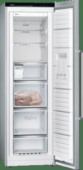 Congelador 1P Siemens GS36NAIDP Inoxidable antihuellas de 186 x 60 cm No Frost con Super congelación | Dispensador de hleio | Clase D | iQ500 - 2
