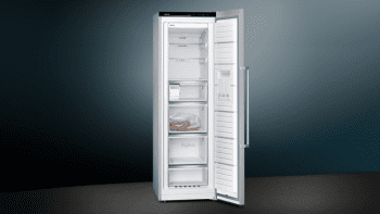 Congelador 1P Siemens GS36NAIDP Inoxidable antihuellas de 186 x 60 cm No Frost con Super congelación | Dispensador de hleio | Clase D | iQ500 - 3