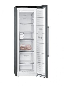 Congelador 1P Siemens GS36NAXEP Acero Inoxidable Negro de 186 x 60 cm No Frost | Dispensador de hleio | Clase A++ | iQ500 - 2