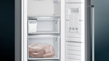 Congelador 1P Siemens GS36NAXEP Acero Inoxidable Negro de 186 x 60 cm No Frost | Dispensador de hleio | Clase A++ | iQ500 - 5