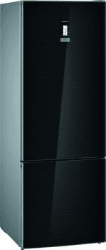 Frigorífico Combi Siemens KG56FSBDA Cristal negro de 193 x 70 cm No Frost | WiFi Home Connect | Zona hyperFresh Premium 0ºC | Clase A+++ | iQ700