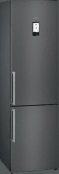 Frigorífico Combi Siemens KG39NHXEP Acero Inoxidable Negro de 204 x 60 cm No Frost | WiFi Home Connect | Zona hyperFresh Plus 0ºC | Clase A++ | iQ500