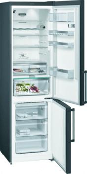 Frigorífico Combi Siemens KG39NHXEP Acero Inoxidable Negro de 204 x 60 cm No Frost | WiFi Home Connect | Zona hyperFresh Plus 0ºC | Clase E | iQ500 - 2