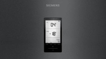 Frigorífico Combi Siemens KG39NHXEP Acero Inoxidable Negro de 204 x 60 cm No Frost | WiFi Home Connect | Zona hyperFresh Plus 0ºC | Clase E | iQ500 - 3