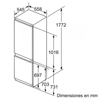 Frigorífico Combi Siemens KI86FPDD0 Integrable de 177.2 x 55.8 cm No Frost   Zona hyperFresh Premium 0ºC   Clase A+++   iQ700 - 8