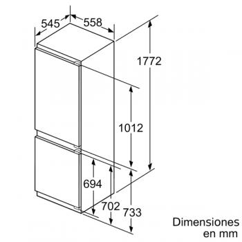 Frigorífico Combi Siemens KI86NAFF0 Integrable de 177.2 x 55.8 cm No Frost   Zona hyperFresh Plus 0ºC   Clase A++   iQ500 - 6