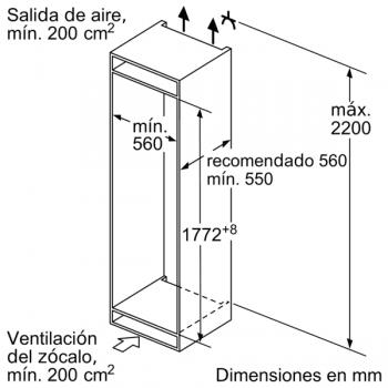 Frigorífico Combi Siemens KI86NAFF0 Integrable de 177.2 x 55.8 cm No Frost   Zona hyperFresh Plus 0ºC   Clase A++   iQ500 - 7