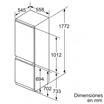 Frigorífico Combi Siemens KI86SAFE0 Integrable de 177.2 x 55.8 cm Low Frost   Zona hyperFresh Plus 0ºC   Clase A++   iQ500 - 7