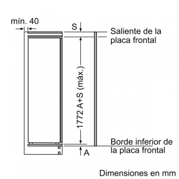 Frigorífico Siemens KI81RAFE0 Integrable 1P de 177.5 x 56 cm | Zona hyperFresh Plus | Clase A++ | iQ500 - 6