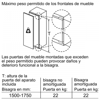 Congelador Vertical Siemens GI81NAEF0 Integrable de 177.2 x 55.8 cm No Frost | Clase A++ | iQ500 - 6