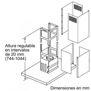 Extractor de Techo Isla Siemens LF97BCP50 Metallic de 90 cm con una potencia de 726 m³/h | Motor iQdrive Clase A | iQ500 - 8