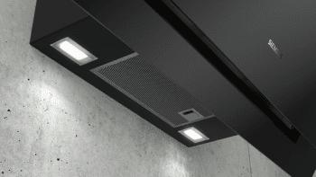Campana de Pared Decorativa Siemens LC87KHM60 Cristal Negro de 80 cm con una potencia de 700 m³/h | Clase B | iQ300 - 2