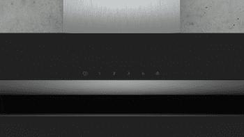 Campana de Pared Decorativa Siemens LC87KHM60 Cristal Negro de 80 cm con una potencia de 700 m³/h | Clase B | iQ300 - 3